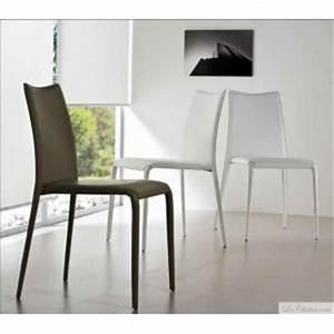 midj chaise cuir regenere salle a manger miss et chaises With salle À manger contemporaineavec chaise cuir blanc