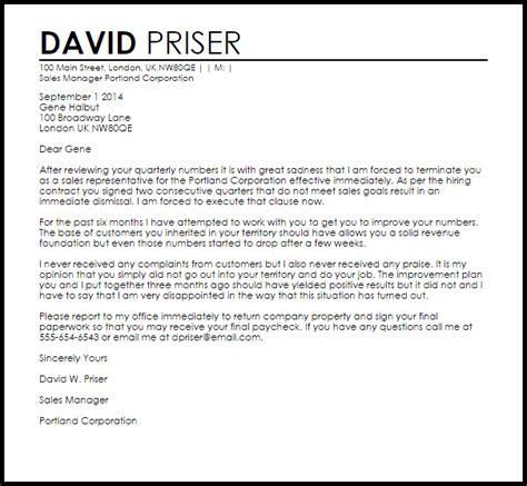 sales rep termination letter sales rep termination letter termination letters