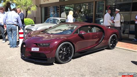carbon red bugatti chiron spotted monaco front side