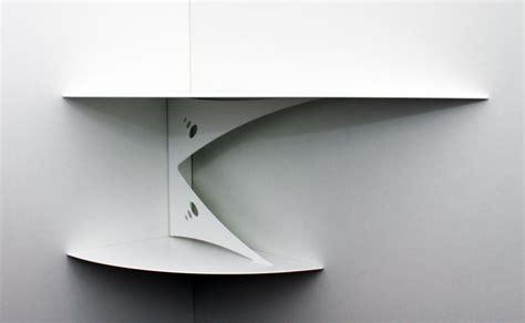 cuisine corse etagère d 39 angle murale blanche design moderne fixation