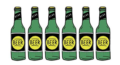 cartoon beer bottle drawn beer beer bottle pencil and in color drawn beer