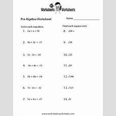 Algebra Worksheets, Worksheets And Algebra On Pinterest