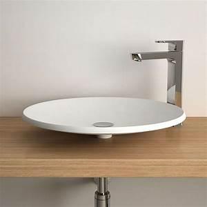 vasque a poser ronde 50 cm ceramique aeka With salle de bain design avec vasque a poser ronde blanche