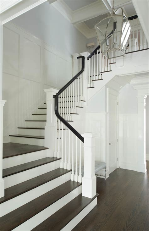 contemporary kitchen decorating ideas wood stair treads staircase traditional with stained