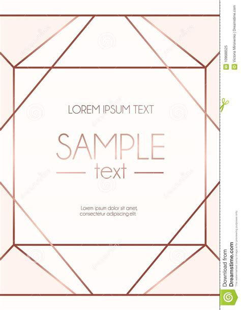 geometric rose gold design template  pink background