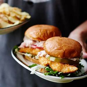 Fried Fish Sandwiches with Lobster Mayo   Recipe   Cooked ...