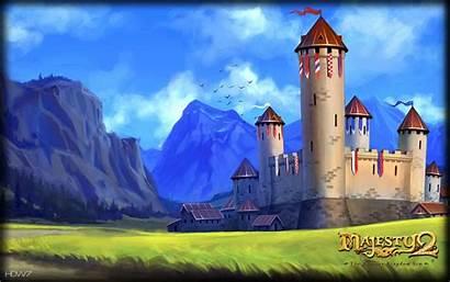 Castle Medieval Kingdom Fantasy Wallpapers Majesty Widescreen