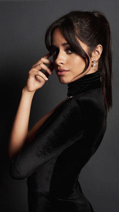 camila cabello  black dress dark background  ultra hd