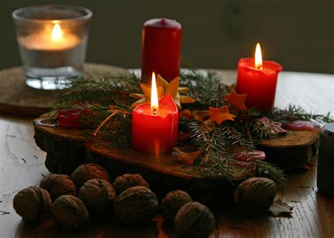christmas decoration candles the word den december 2013