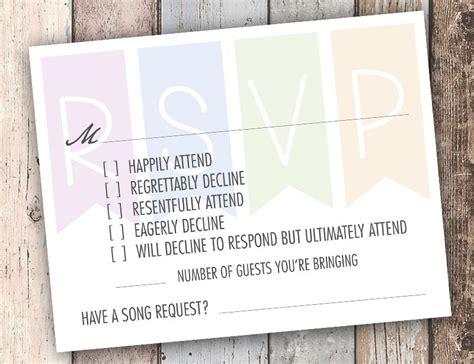 funny rsvp card   answer   smart ass