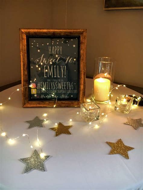 smores bar stars twinkle lights paper lanterns starry