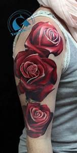 Idée De Tatouage Femme : tatouage rose graphicaderme ~ Melissatoandfro.com Idées de Décoration