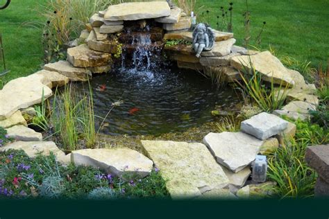 concrete patio pond ideas backyard  project gultigul