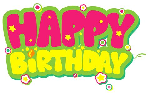happy birthday clipart yellow and pink happy birthday clip happy birthday