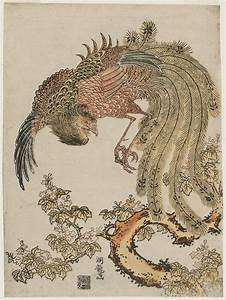 Isoda Koryusai: Phoenix and Paulownia Tree - Museum of ...