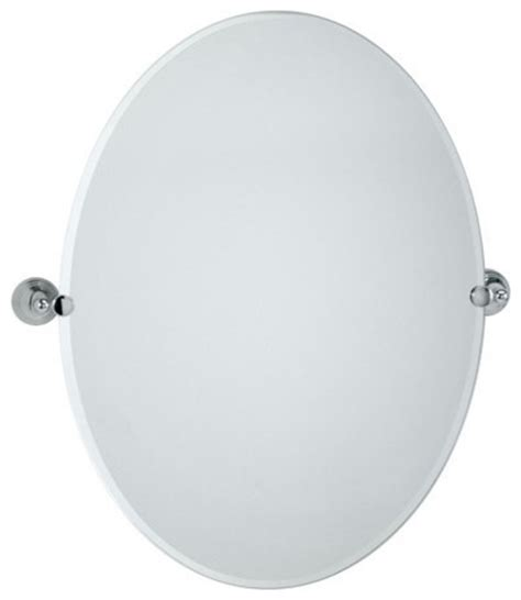 Tilting Bathroom Mirror Chrome by Gatco Collection Oval Tilting Wall Mirror