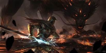 Dragon Fantasy Knights Background Wallpapers Desktop Tokkoro