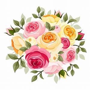 Elegant flowers bouquet vector 04 | Free Vector ...