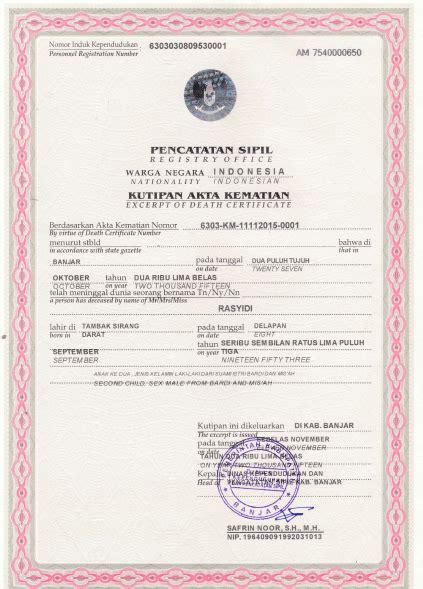jasa penerjemah tersumpah akta kelahiran perkawinan