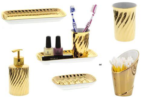 bad accessoires gold kosmetikexpertin de badezimmer quot aurum quot porzellan gold mit 18 karat vergoldet kosmetex