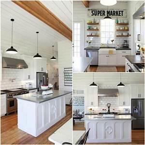 10 Fixer Upper Modern Farmhouse White Kitchen Ideas