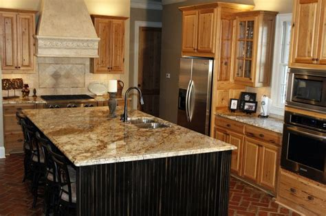 how to install kitchen island yellow river granite installed design photos and reviews 7263