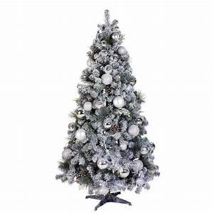 Geschmückte Weihnachtsbäume Christbaum Dekorieren : deko weihnachtsbaum 210 cm wei silber dekoration bei dekowoerner ~ Markanthonyermac.com Haus und Dekorationen