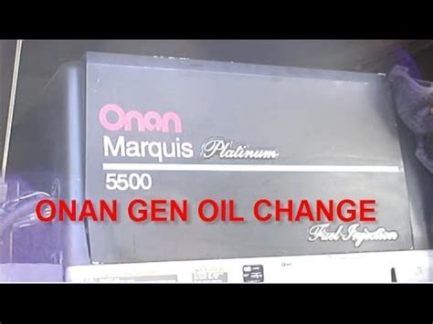 HOW TO CHANGE OIL / FILTERS   ONAN rv GENERATOR Marquis