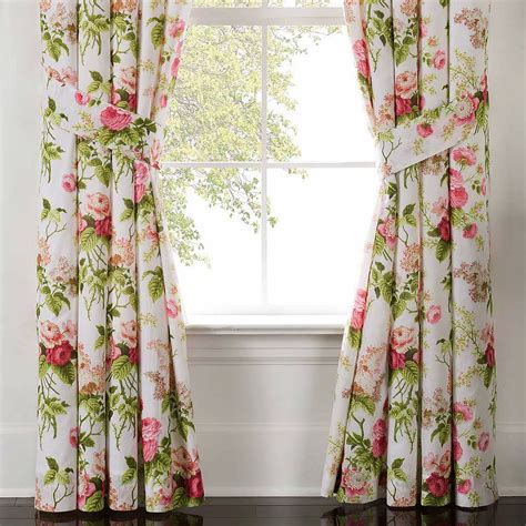 window curtains garden emmas garden floral window treatment by waverly