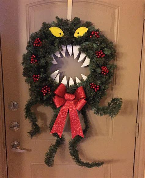 diy nightmare before wreath front