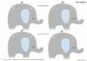 Free Printable Elephant Baby Shower Bunting   Party ...