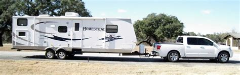time travel trailer towing nissan titan