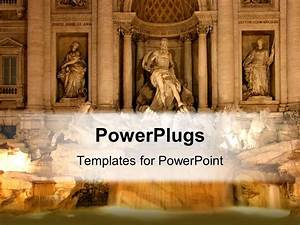 PowerPoint Template: Roman Statues depicting historical ...