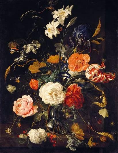 Floral Mural Heem Moody Dark Wall Painting