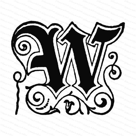 ornamental penwork initial letter  vector clipart
