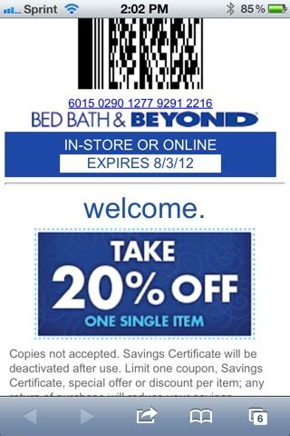 Bed Bath And Beyond 20 Percent Coupon by Bed Bath And Beyond Coupon Sosa