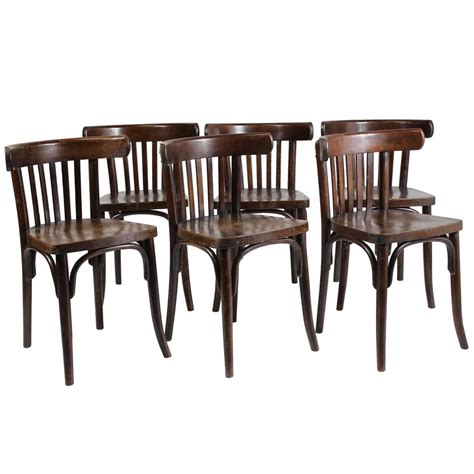 set of six bentwood bistro chairs 1950s ton thonet at