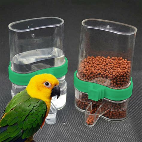 Parrot Feeder by Acrylic Bird Feeder Automatic Seed Water Feeder Cage