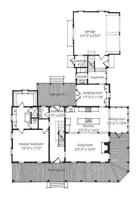 Southern Floor Plans by Front Porch And Floor Plan Southern Living
