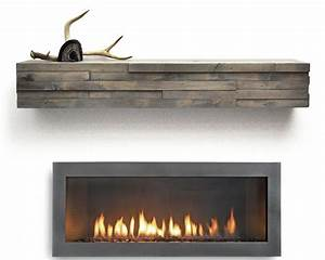 Dogberry Collections Modern Fireplace Mantel Shelf