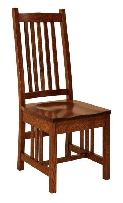 mission style dining chair from dutchcrafters amish furniture