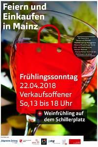 Mainz Verkaufsoffener Sonntag : einkaufenfeiernmz11032018rzplakat werbegemeinschaft mainz ~ Buech-reservation.com Haus und Dekorationen
