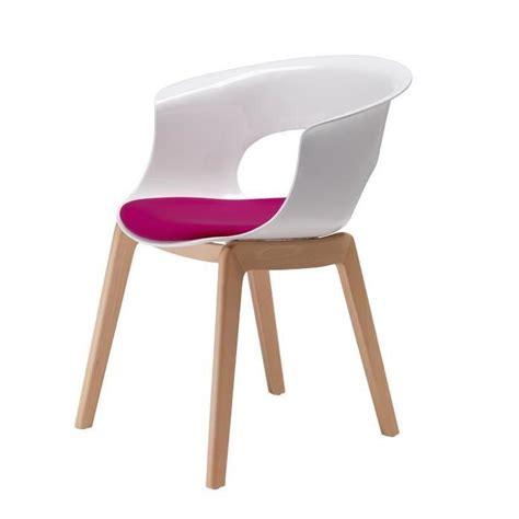 chaise blanche pied en bois chaise blanche pied bois clair ciabiz com