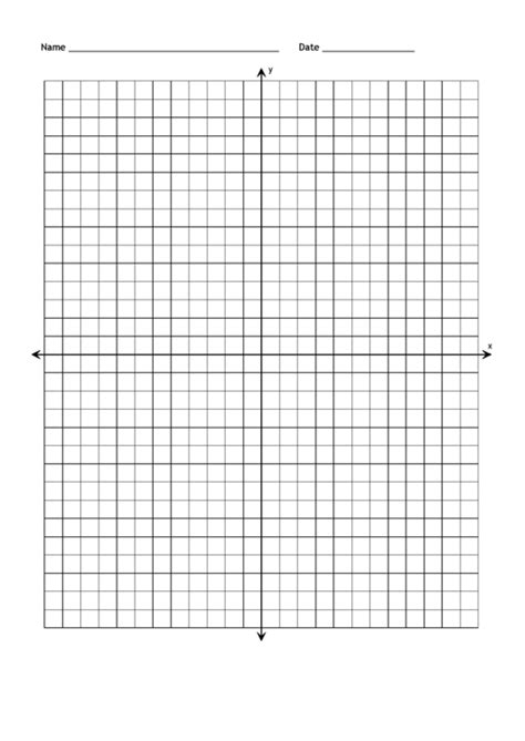 full page blank coordinate grid paper  axis printable