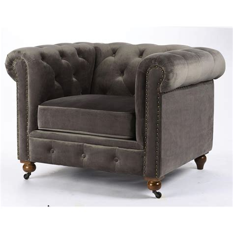 home decorators collection gordon grey velvet arm chair