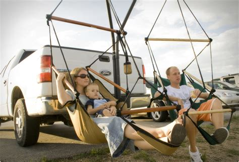 trailer hitch stand hammock chair combo