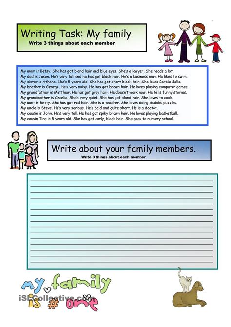 creative writing my family 2 a1 level для уроков