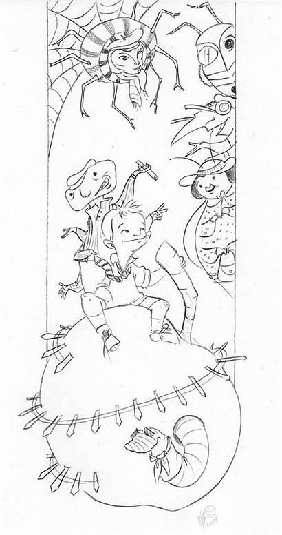 Peach Giant James Coloring Deviantart Pages Lelpel