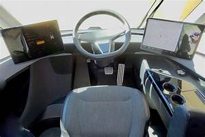 Inside the cab of the Tesla Semi | With rear view mirror pro… | Flickr