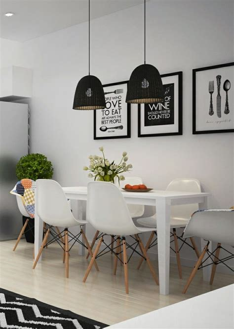 idee relooking cuisine salle  manger blanche avec table